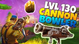 LVL 130 BOWLER CANNON Launcher IS IT GOOD? | Fortnite Save The World