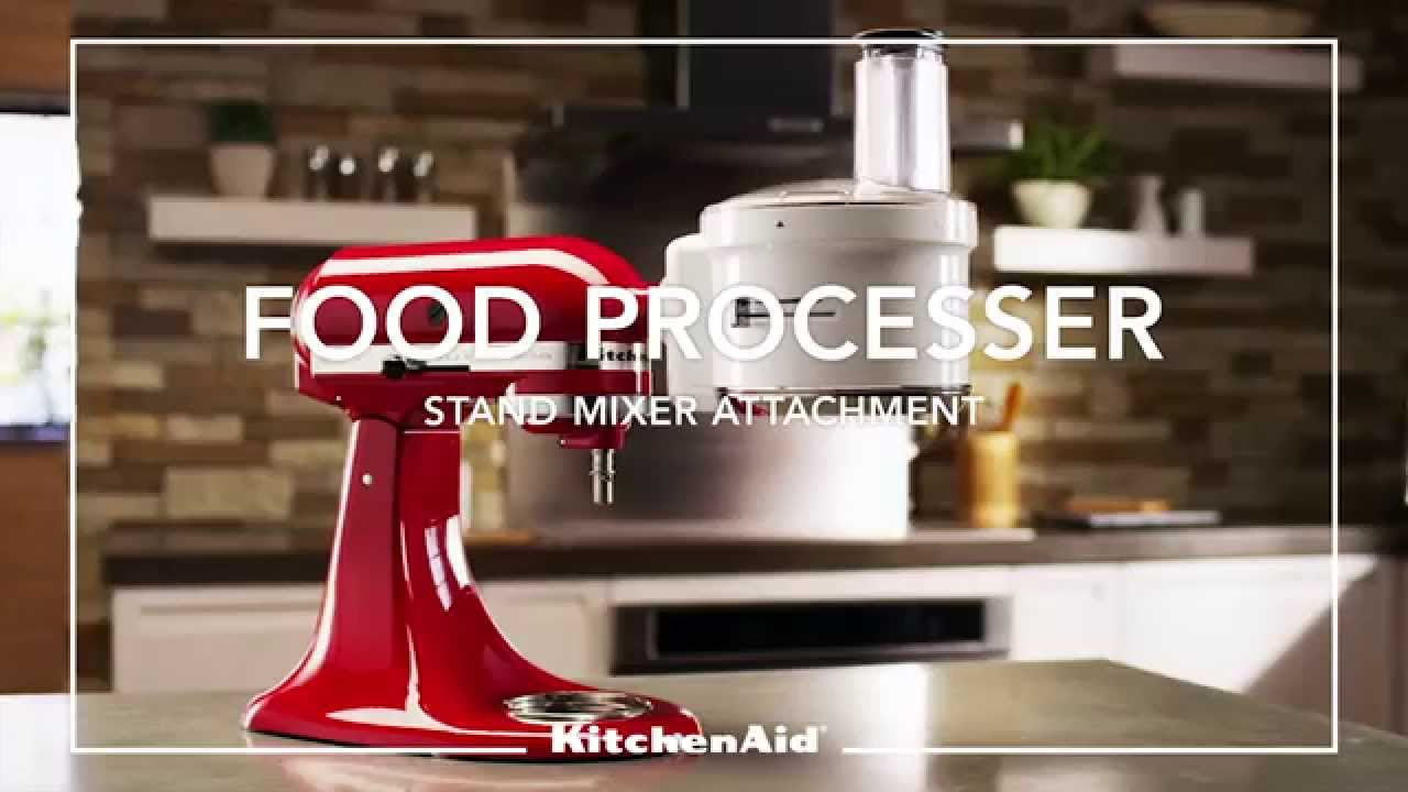 Kitchenaid 174 Stand Mixer Attachment Food Processor Youtube