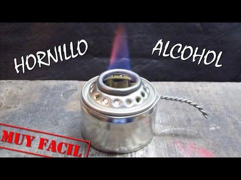 HORNILLO DE ALCOHOL y ALGODÓN CASERO