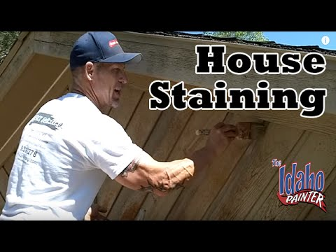 How To Stain Cedar House Siding. DIY How To Stain A House. Exterior House  Painting Tips.
