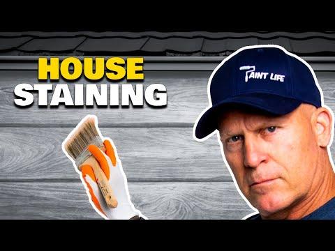 How To Stain Cedar House Siding Diy How To Stain A House