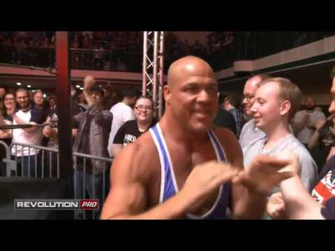 Kurt Angle entrance before his match with Zack Sabre, Jr. (RPW)
