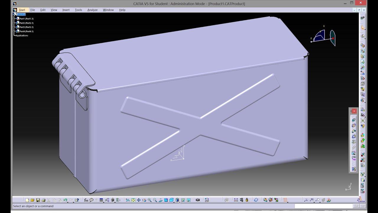 Catia V5 Generative Sheetmetal Design Youtube