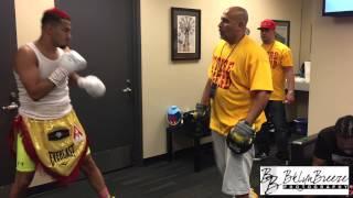 junior younan boxing debut roc nation barclays center