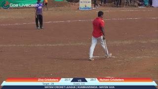 Mayem Cricket League   Raunak Cricketers   Kumbharwada Mayem Goa