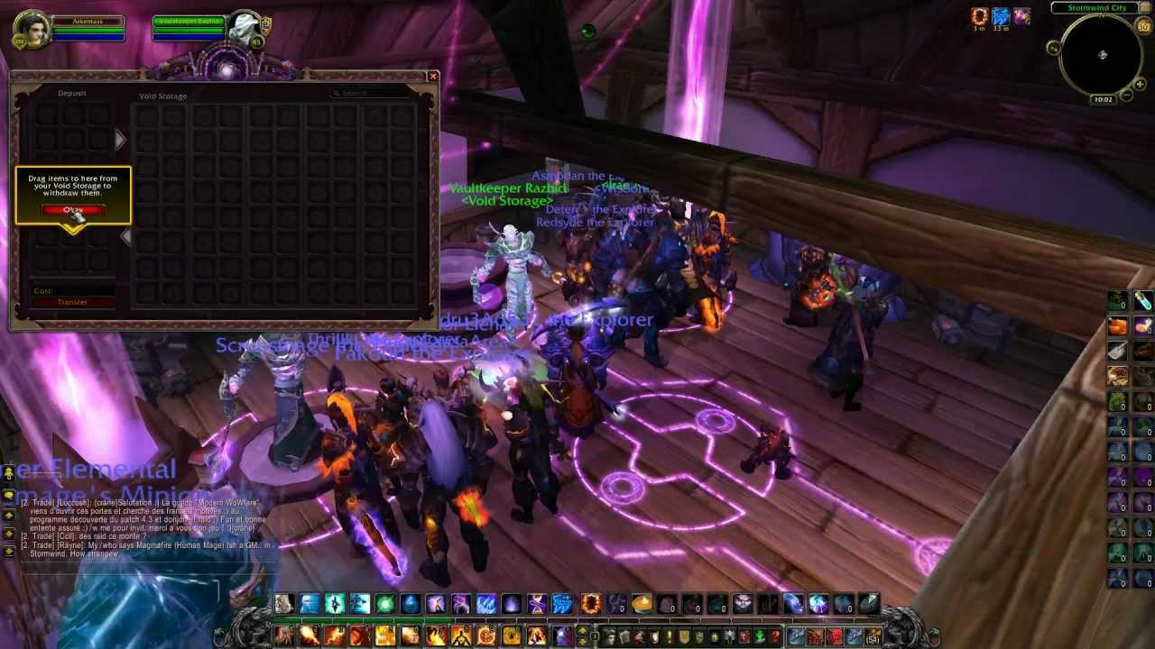 WoW PTR 4.3 : Transmogrification, Void Storage and