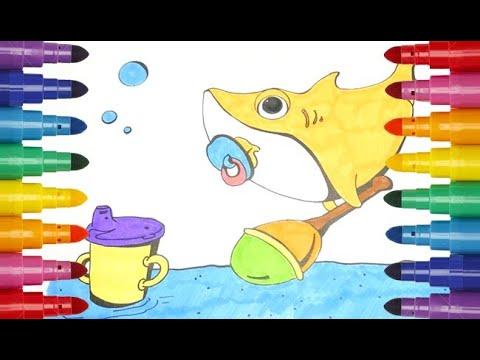 Baby Shark Coloring Book Акулёнок Беби Шарк раскраска ...