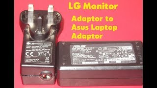 Lg monitor adapter 19v extension to asus laptop adapter
