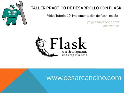 VideoTutorial 10 Taller Práctico de Desarrollo con Flask. Implementación de flask_restful