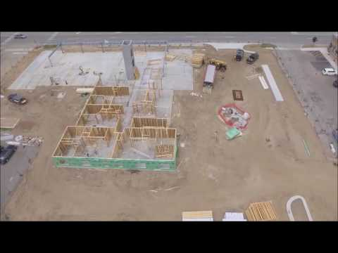 Drone Footage Of Construction At Former Paw Paw Shopping Center Site