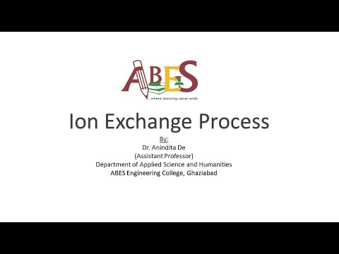 Ion Exchange Process by Dr. Anindita De [Chemistry]