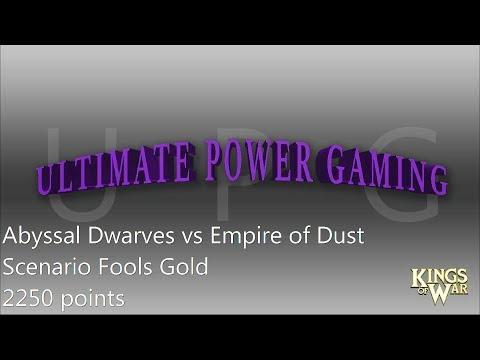 Kings of War Battle Report #69: 2250 points. Scenario, Fools Gold