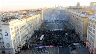 Recent riots in Warsaw filmed with an RC helicopter !!!