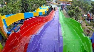 Deep Purple Racing Water Slide at Kediri Waterpark