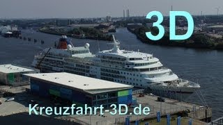 3D-Video: MS Europa (Hapag-Lloyd) in Hamburg am 09. September 2012 (inkl. Wende)