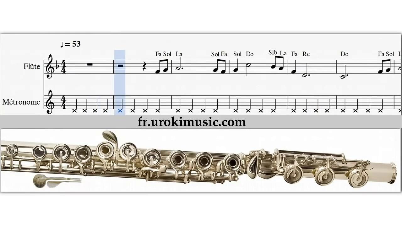 cours de flute traversiere titanic comment jouer de la flute partition le on tablature youtube. Black Bedroom Furniture Sets. Home Design Ideas