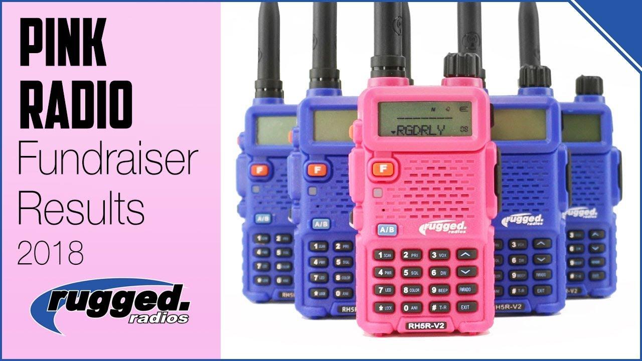 Rugged Radios : Pink Radio Fundraising Results