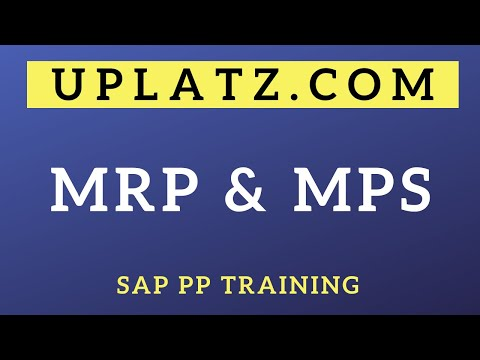 availability-check-in-mrp-and-introduction-to-mps- -sap-pp-training- -mrp-and-mps-overview- -uplatz