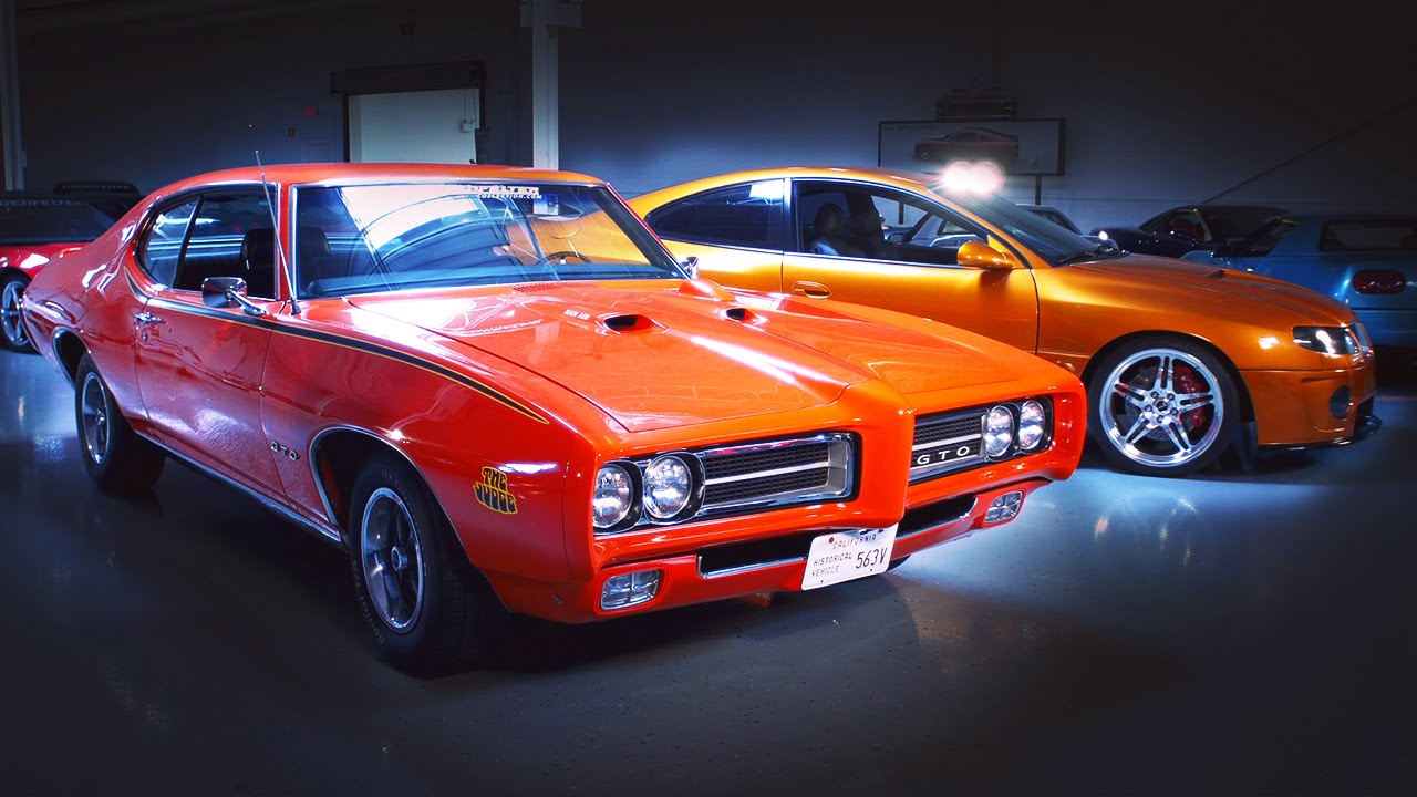 1969 pontiac gto judge vs 2006 custom pontiac gto generation gap