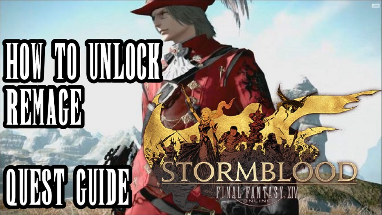 FFXIV Stormblood - How To Unlock Redmage Unlock Quest - Taking Red - Guide  & Commentary