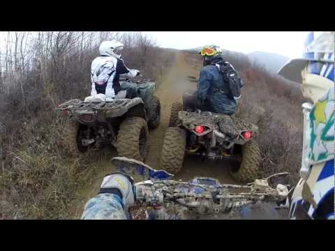 Trail ride in Romania with Bex Team 02.12.2012 on quad, atvs and UTV,  part.I