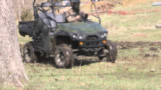 GroundHog MAX plowing in ROCKS on Intimidator UTV
