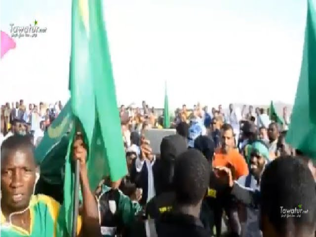سكان ازويرات يخرجون احتفاء بقدوم المنتخب الوطني
