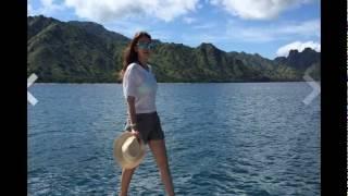 Luna Maya dan Reino Barack liburan bareng di Pulau Komodo