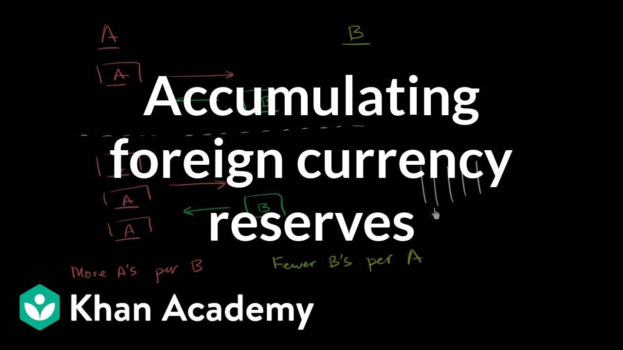 Aculating Foreign Currency Reserves Exchange And Trade Macroeconomics Khan Academy