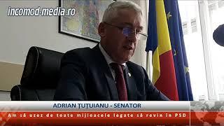 Adrian Ţuţuianu, senator: Am să uzez de toate mijloacele legale ca să revin în PSD
