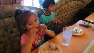 kid eating chicken for lunch | delicious food | American food | kid food