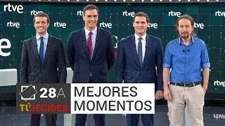 5 mejores momentos del debate a cuatro en RTVE