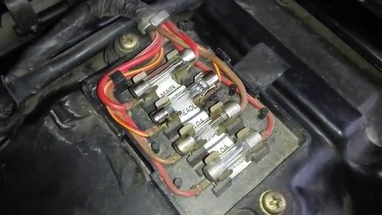 yamaha virago wiring diagram 1993 chevrolet pickup xs400 fuse box youtube