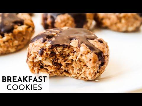 HEALTHY BREAKFAST COOKIES | No Bake Peanut Butter Oatmeal Cookie Recipe