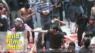 Shias hurting themselves on the day of Ashura