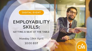 Employability Skills: Getting a Seat at the Table