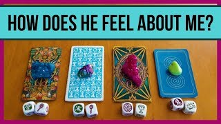 HOW DOES HE FEEL ABOUT ME? *Pick A Card* Love Relationship Tarot Divination Cube Reading