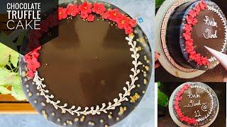 Chocolate truffle cake  1 kg recipe   Fousiya Firoz