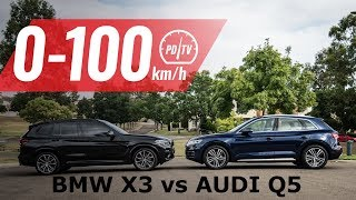 2019 Audi Q5 50 TDI vs BMW X3 xDrive30d: 0-100km/h & engine sound