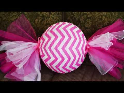 DIY Party Candy Decorative Paper Lantern Tutorial