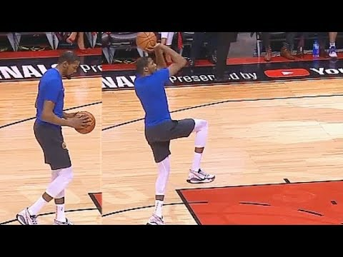 Kevin Durant Shuts Up Raptors Crowd After Cheering His Miss In Game 5 Return Practice!