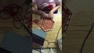 Hexagon Loom Wrap f๐r Hot Pad