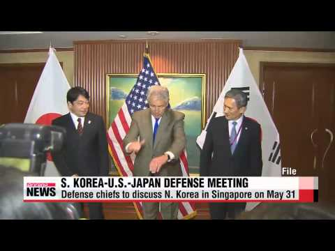 Defense ministers of Korea-U.S.-Japan to meet in Singapore