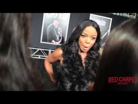 Jill Marie Jones #AshVsEvilDead interviewed at Los Angeles Movie Premiere of Creed #CREEDPremiere