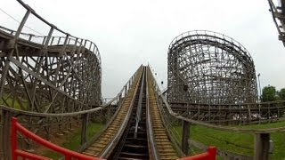 hersheypark wildcat pov hd roller coaster front seat on ride gopro video gci wooden