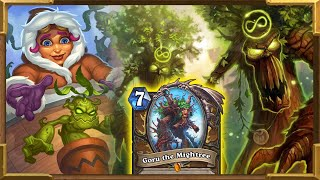 Hearthstone: New Token Treant Druid With Goru the Mightree Is GOOD! | Descent of Dragons New Decks