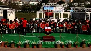 Indian police band performs at 150th anniversary of Indian police
