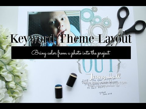 How to adapt a scrapbook layout colors from a photo using Stampin Up products with Jenny Hall