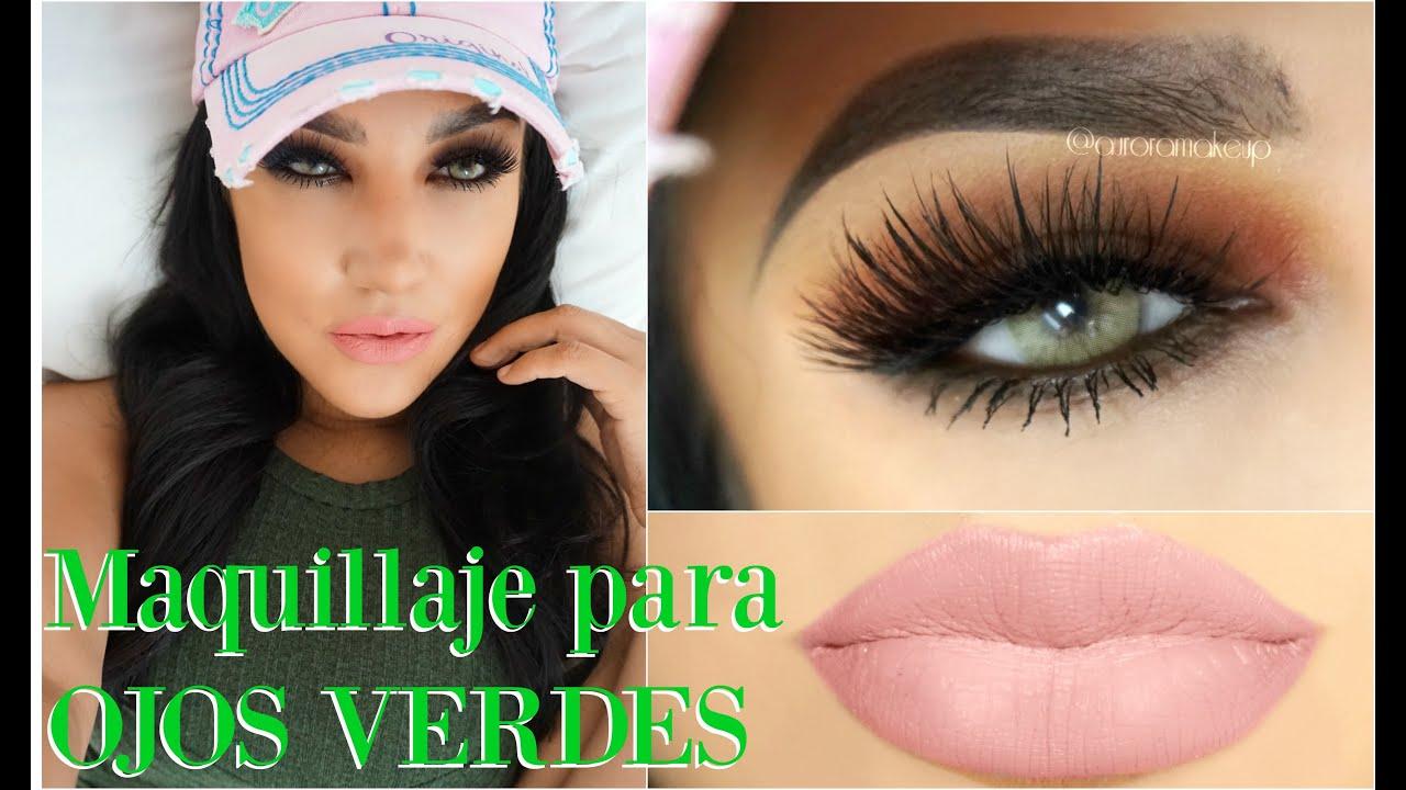 a5ea195a4 Maquillaje Ahumado para OJOS VERDES / Makeup Smokey Eye for GREEN EYES |  auroramakeup