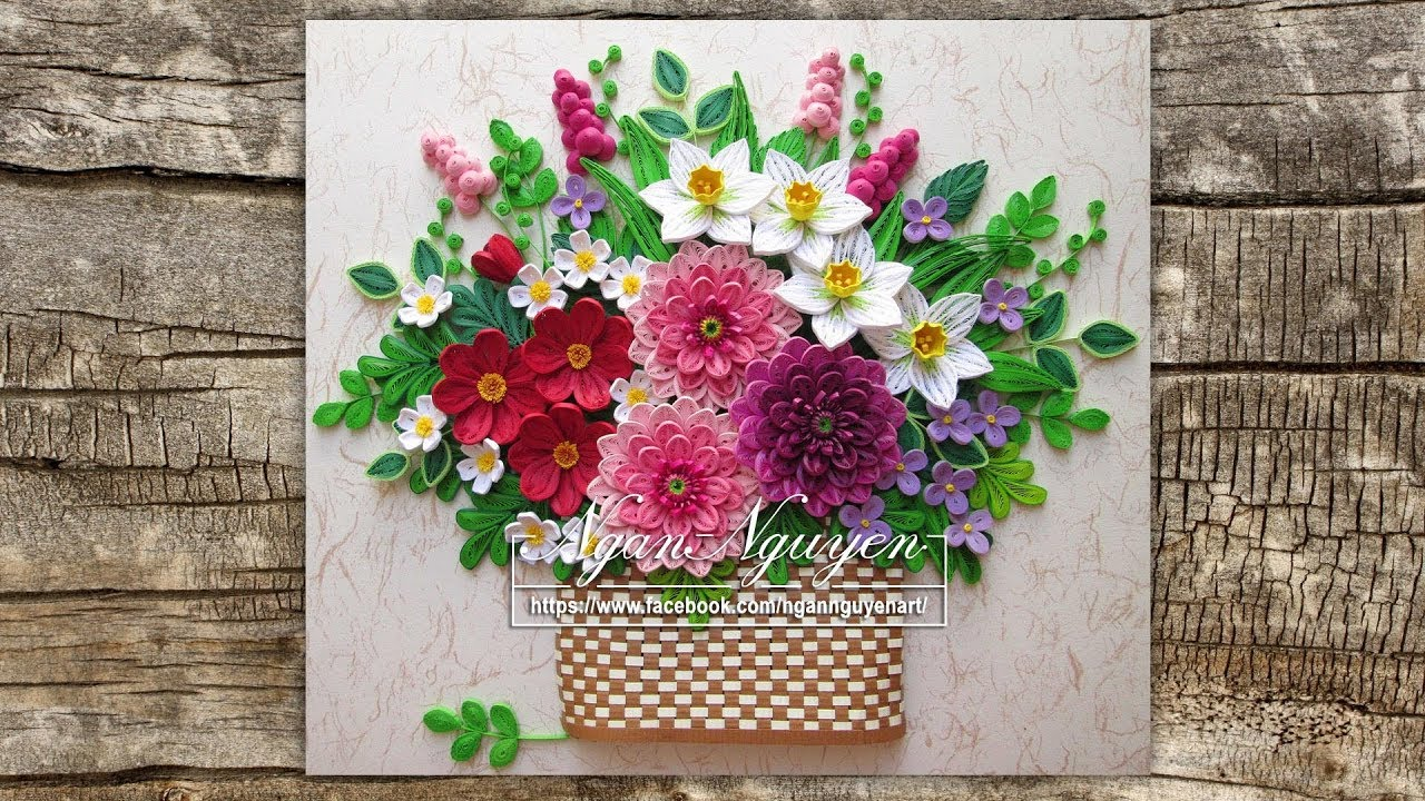 How To Make Paper Quilling Flowers Basket Elegant Add Green